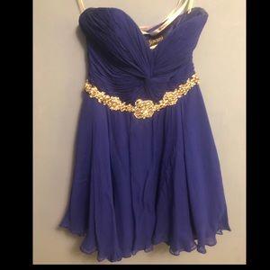 Blue Jovani Homecoming Dress Size 6